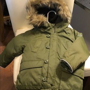 Gap Baby Boy Toddler Down Snorkel Parka Jacket Coat Green Size 2T 2 Years NWT